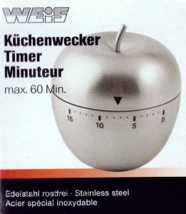 Mechaniczny minutnik kuchenny Weis Apple 15158